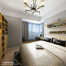 精选103平米三居卧室现代实景图片