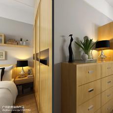 2018面积97平现代三居卧室装修设计效果图