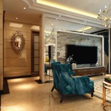 面积94平欧式三居客厅装修欣赏图片大全