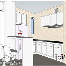 80平米二居厨房现代装修图片欣赏