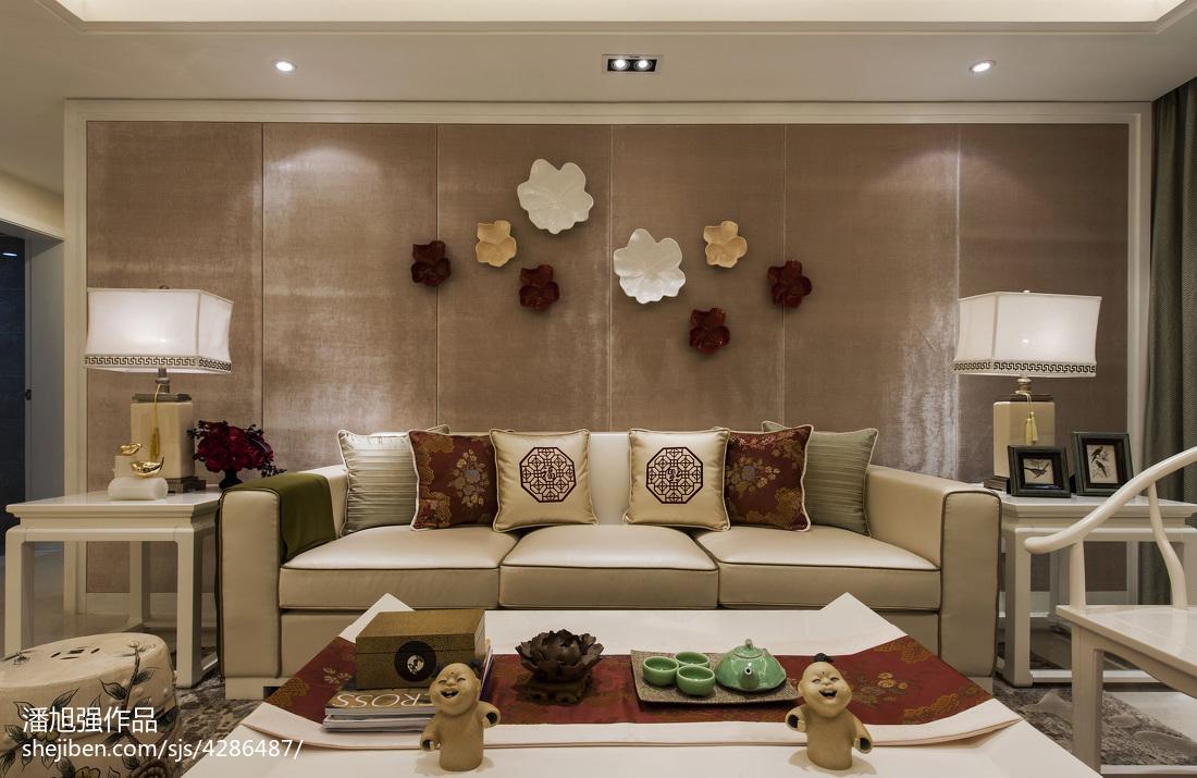 优美115平中式样板间客厅设计图