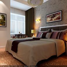 精美108平米三居卧室现代装修效果图