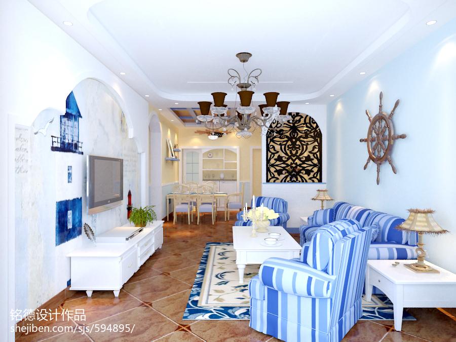 热门小户型客厅地中海实景图片欣赏