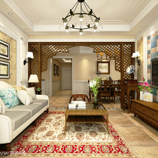 热门大小100平美式三居客厅装饰图片