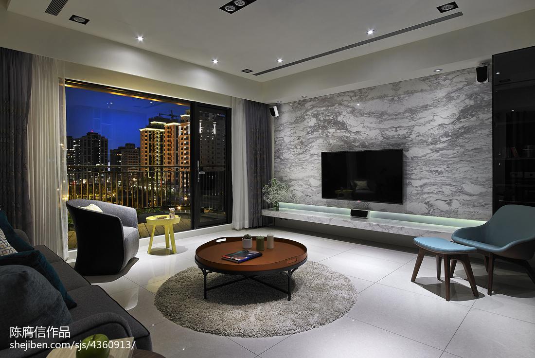 121平方四居客厅混搭装修设计效果图片欣赏