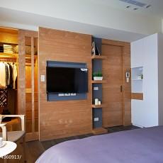 2018134平米四居卧室混搭设计效果图