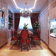 面积125平欧式四居餐厅装修图片大全
