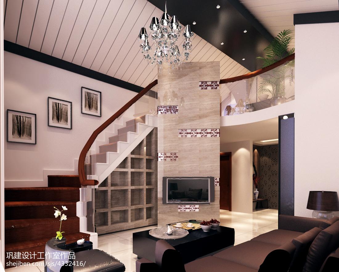精美140平米中式复式客厅欣赏图