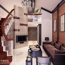 140平米中式复式客厅装修图片欣赏