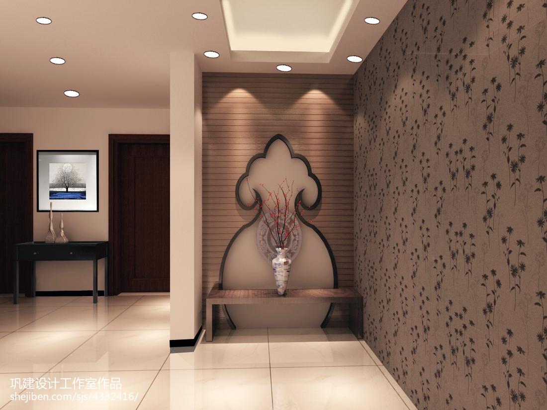 精选143平米中式复式玄关设计效果图
