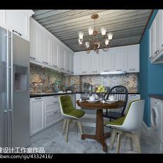 2018精选72平米二居餐厅美式装修效果图