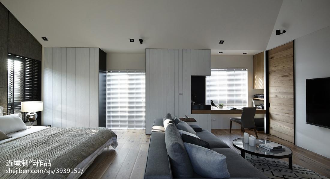 现代风格别墅卧室阳台效果图