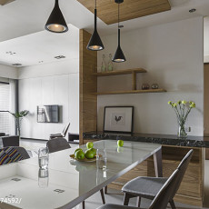 热门115平米四居餐厅现代装修设计效果图片