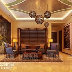 热门东南亚三居客厅实景图