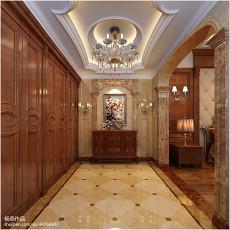 2018精选137平方欧式别墅玄关装修设计效果图片大全