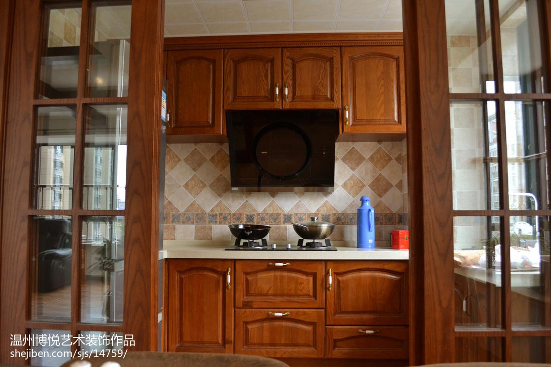 最热美式三居厨房装修图片