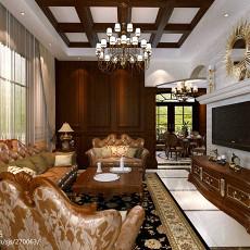 113平米美式别墅客厅装修实景图