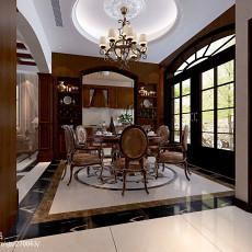 精美面积139平别墅餐厅美式装修效果图