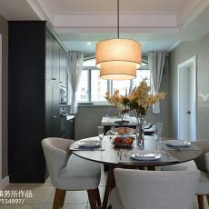 2018127平米四居餐厅美式装修欣赏图