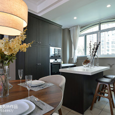 面积126平美式四居厨房欣赏图片
