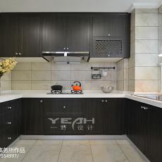 2018面积136平美式四居厨房装饰图片