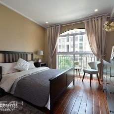 2018面积118平美式四居卧室装修欣赏图