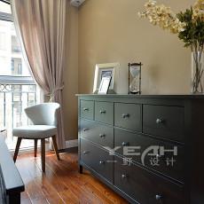 面积126平美式四居卧室装修效果图片欣赏