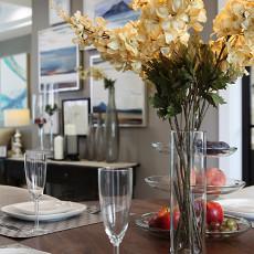 精美面积119平美式四居餐厅效果图片