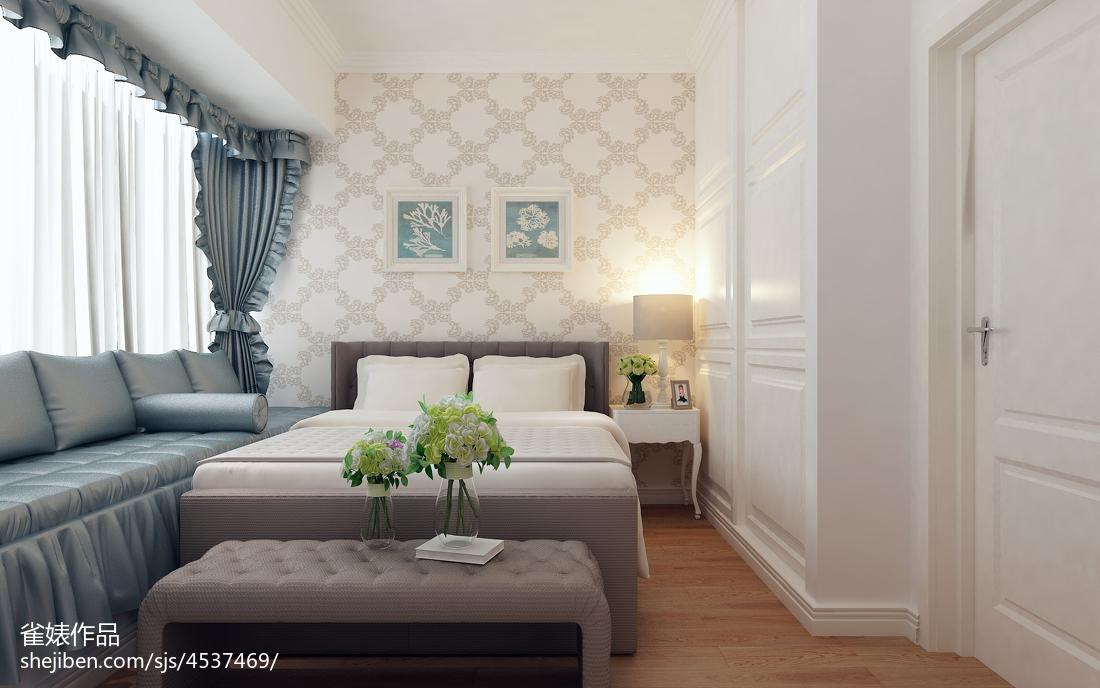 2018精选面积78平欧式二居卧室装修实景图片欣赏