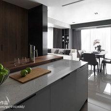 2018精选面积95平现代三居厨房装修实景图片欣赏
