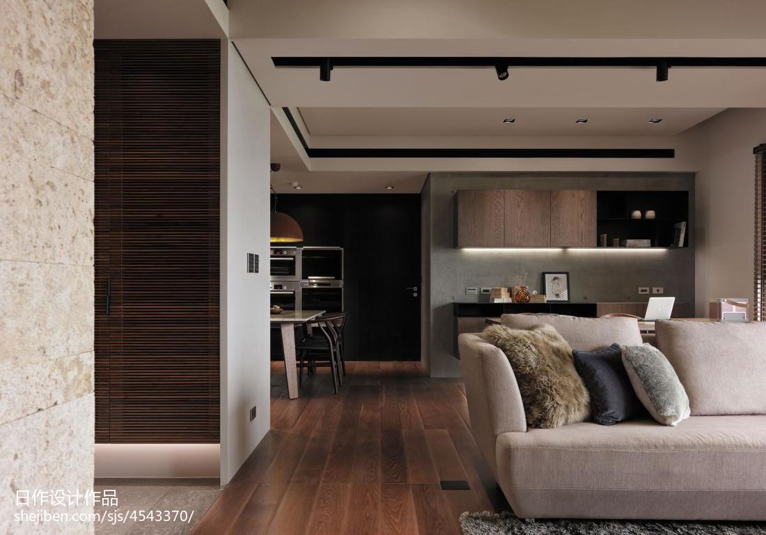 精美106平米三居客厅现代装饰图