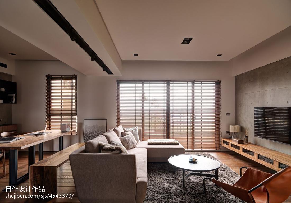 三居现代客厅窗户装修效果图