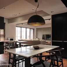2018精选大小91平现代三居餐厅实景图片