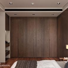 2018面积98平现代三居卧室装修效果图片欣赏