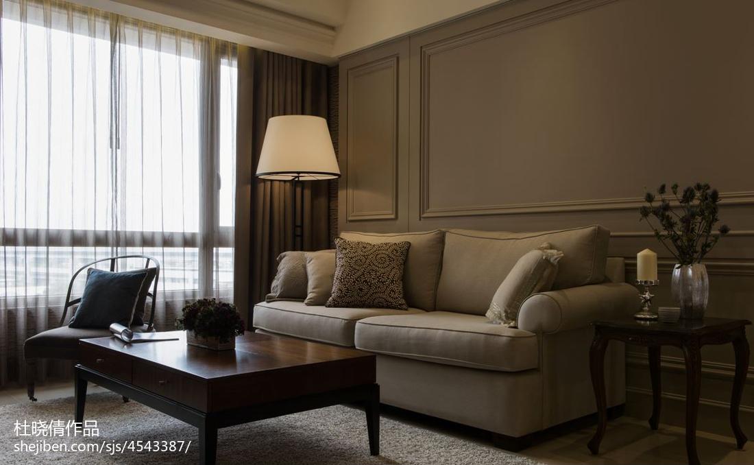 热门大小96平美式三居客厅欣赏图片大全