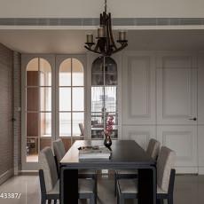 热门面积106平美式三居餐厅装修欣赏图片