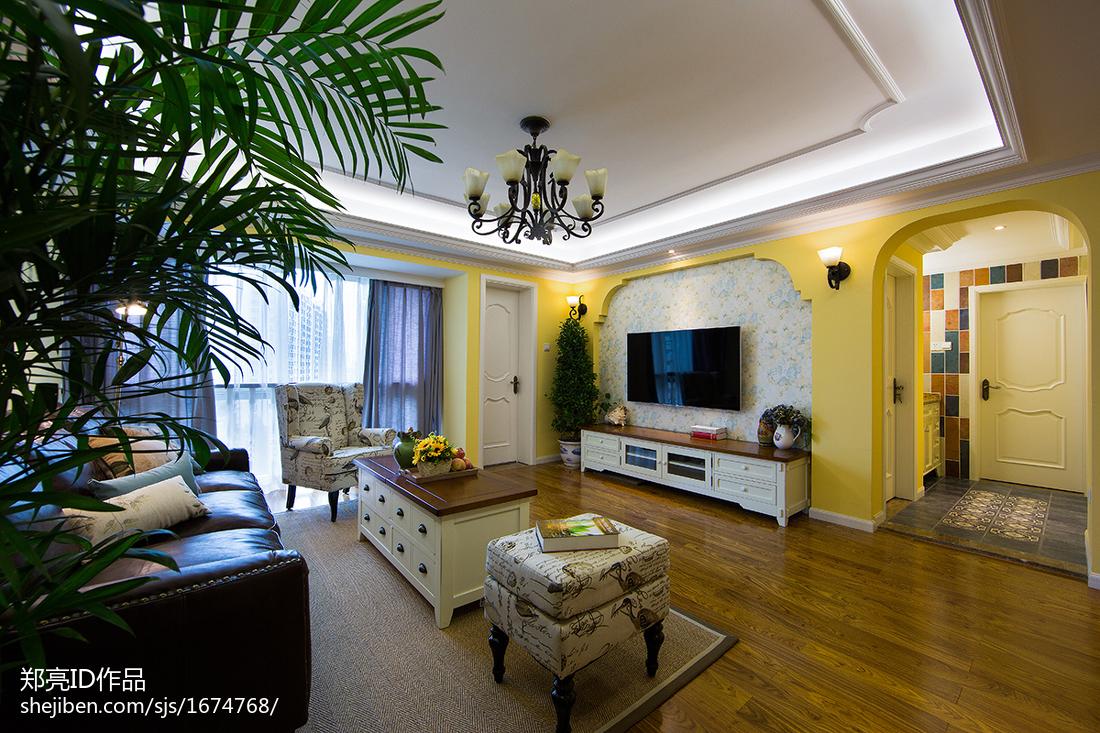 大气124平田园四居客厅实景图片