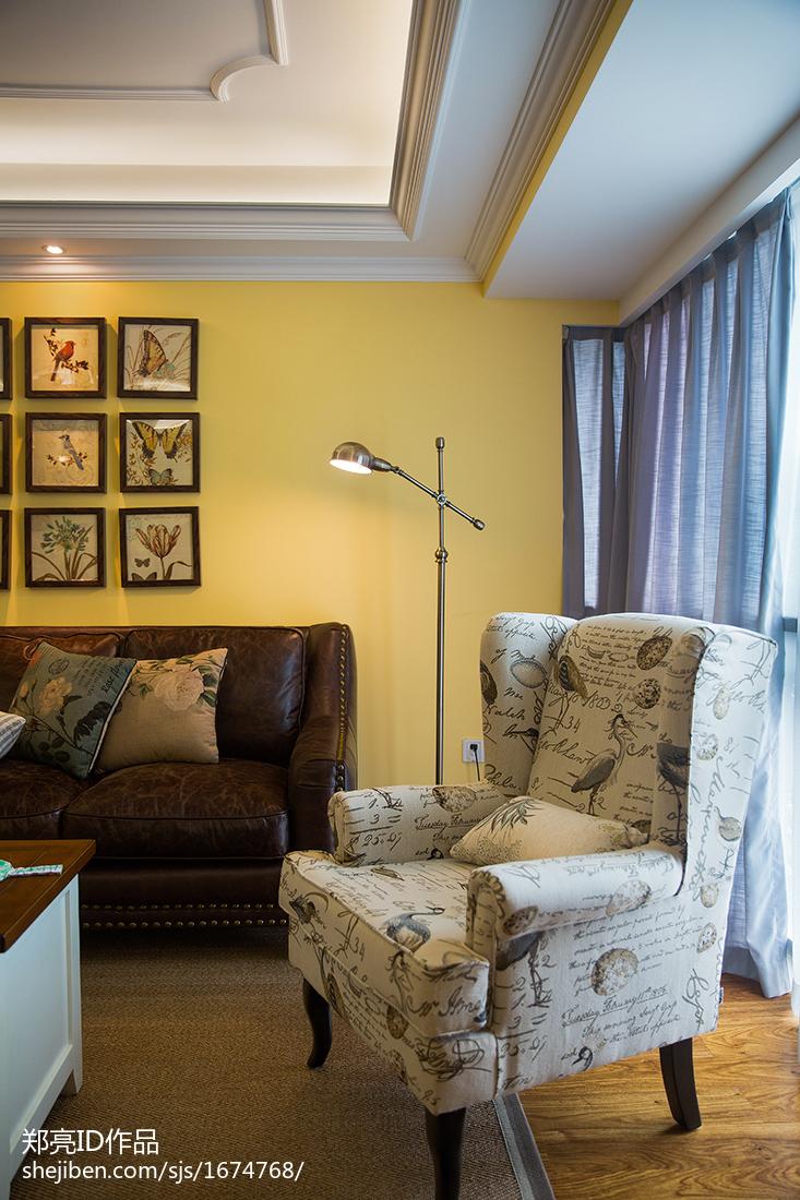 典雅141平田园四居客厅效果图片大全