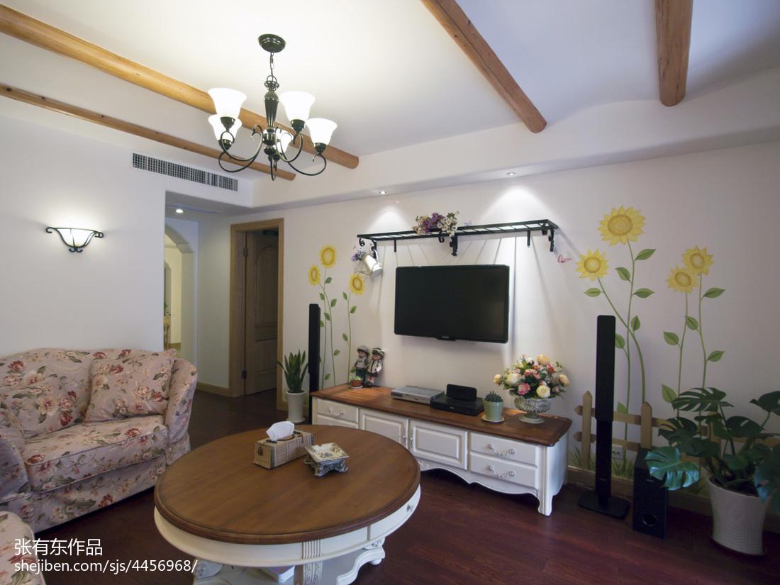大气122平地中海二居客厅装饰图