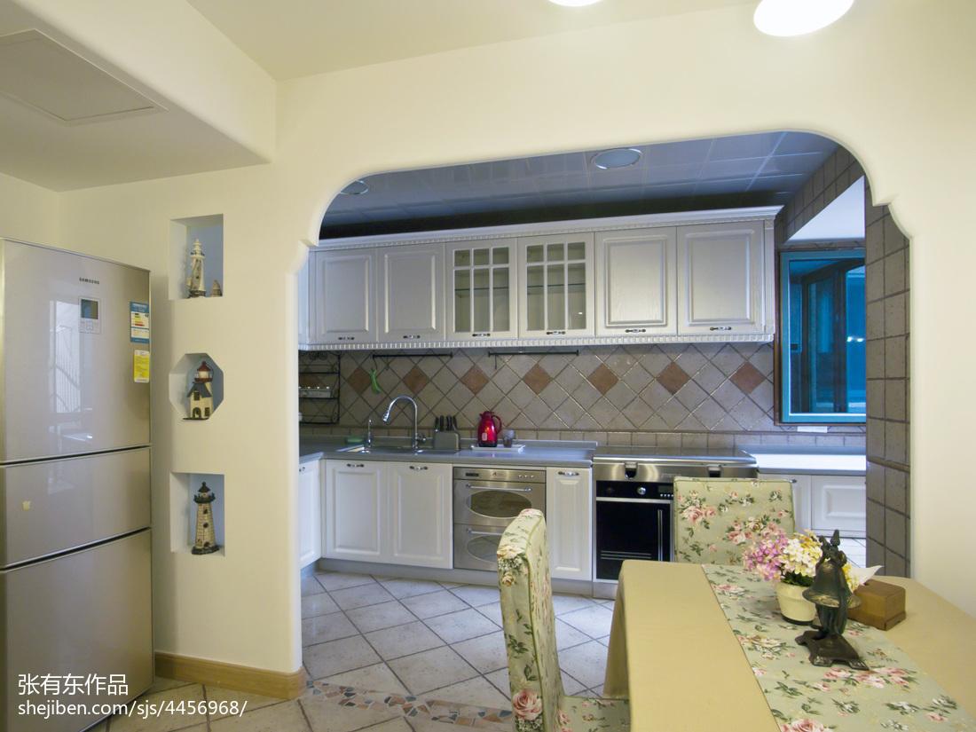 明亮70平地中海二居厨房装修装饰图