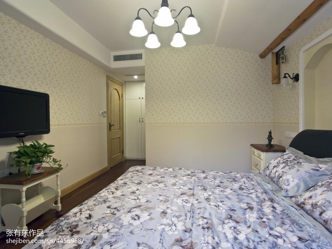 悠雅88平地中海二居卧室效果图片大全