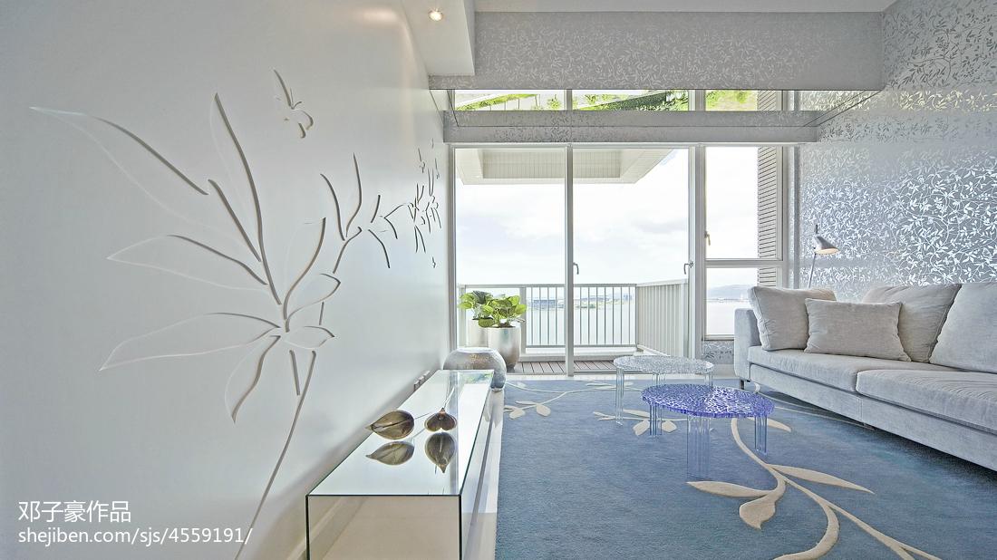 95.1平热门现代客厅装修设计效果图片欣赏