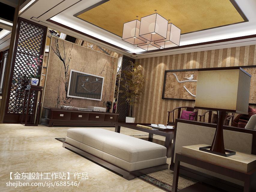 热门客厅中式装修实景图