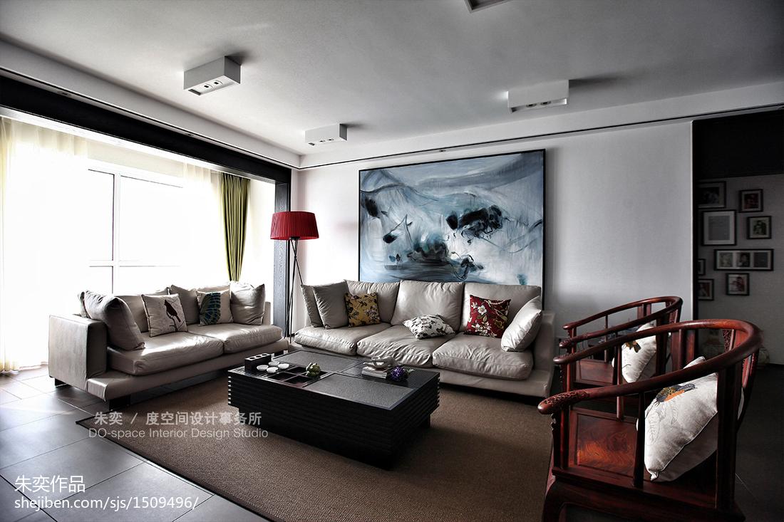 精选138平米中式别墅客厅装饰图