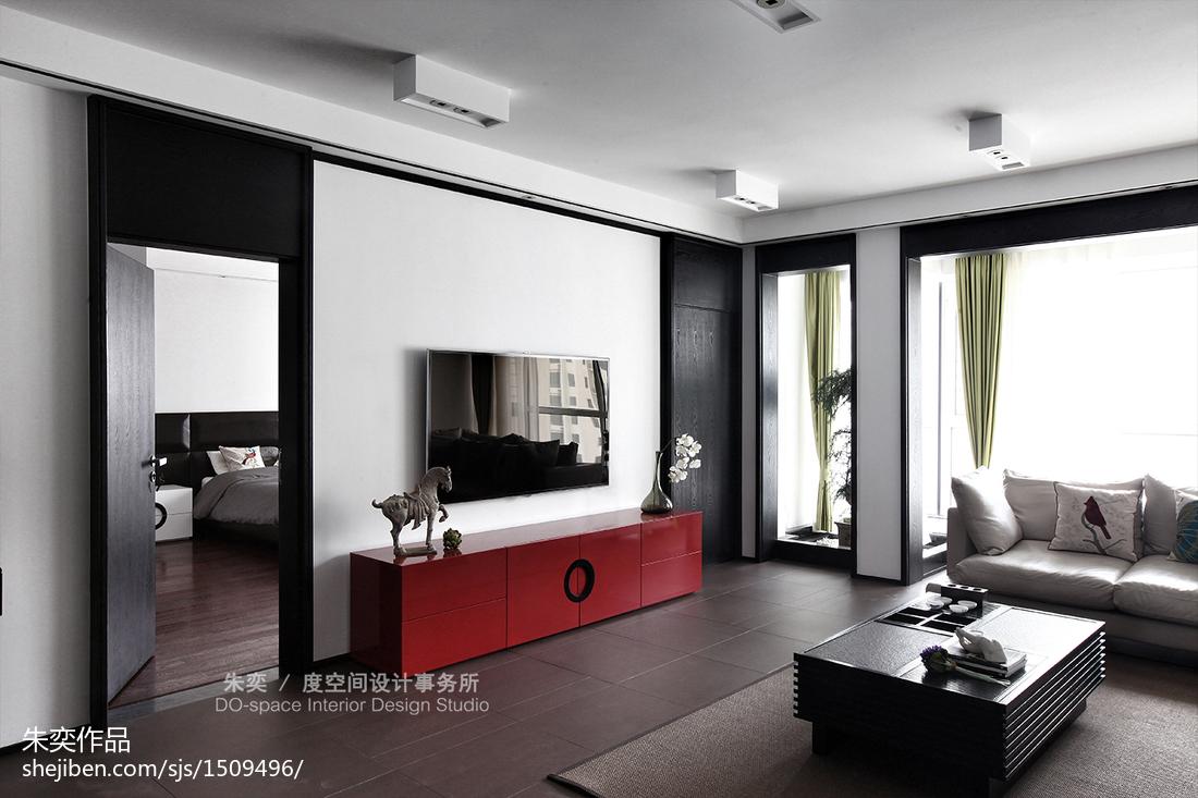 2018精选面积132平别墅客厅中式装修图片