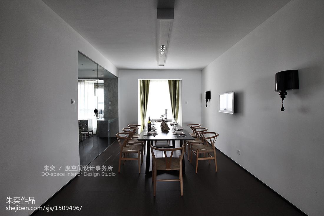 2018面积124平别墅餐厅中式装修图片