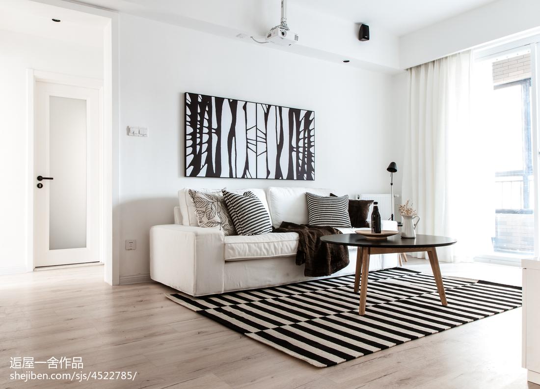 2018精选面积85平小户型客厅欧式效果图片大全