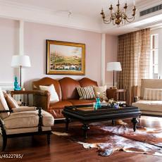 面积133平美式四居客厅装修图