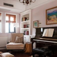 精选面积124平美式四居书房装修图片
