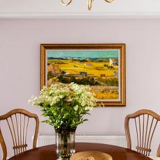 精美面积112平美式四居餐厅装饰图片